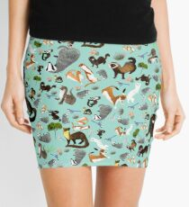 Mustelids of Spain pattern Mini Skirt