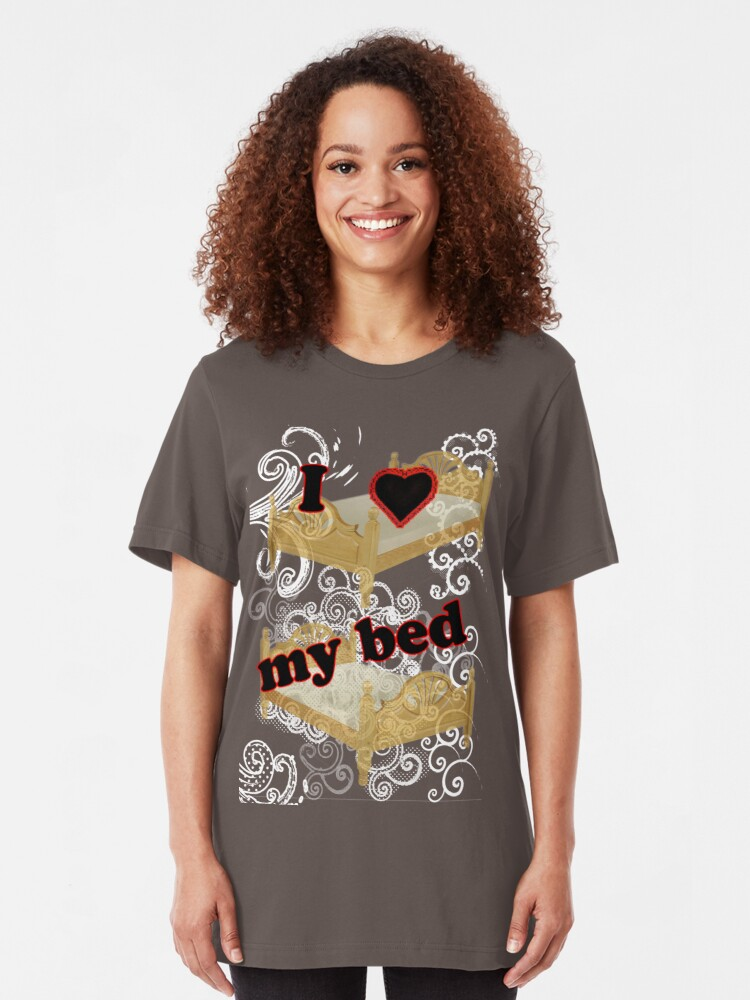 Alternate view of I Heart My Bed Slim Fit T-Shirt