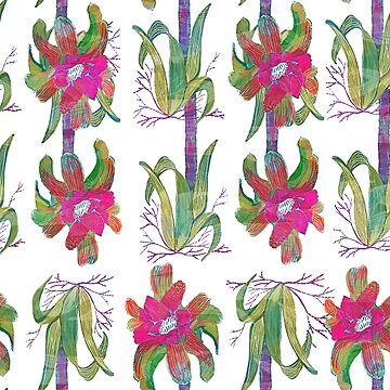 Seamless Watercolor Tropical flower Pattern by Jime-Creates