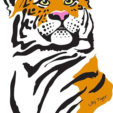 Lilly Tiger - cute simple vector tiger illustration by MoragHickman