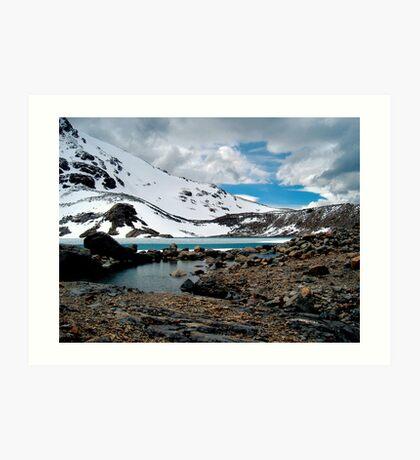 Frozen Lake, Fitzroy Range, Patagonia Art Print