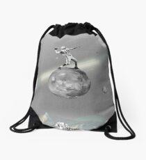 Space Football Drawstring Bag