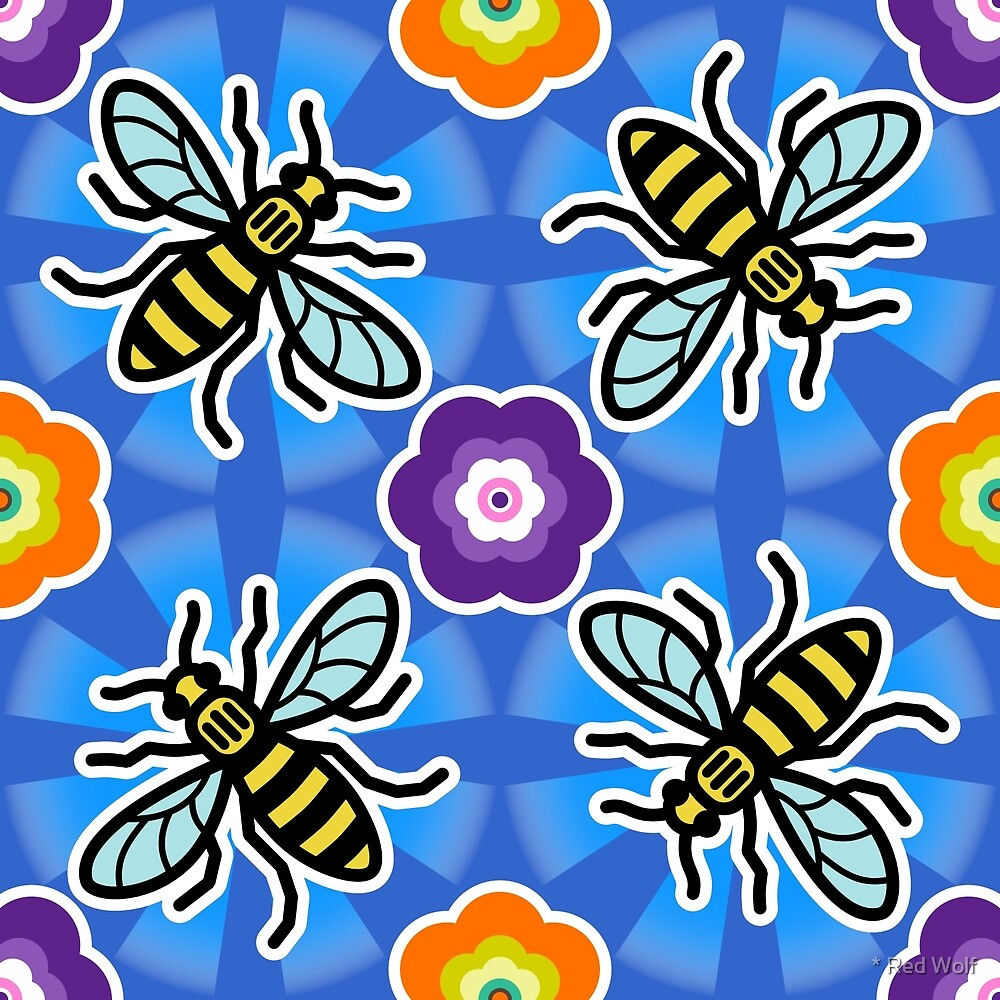Bee and Flower by * Red Wolf