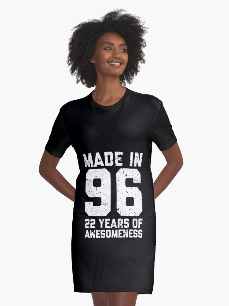 22nd Birthday Gift Adult Age 22 Year Old Men Women Graphic T Shirt Dress By Mattlok