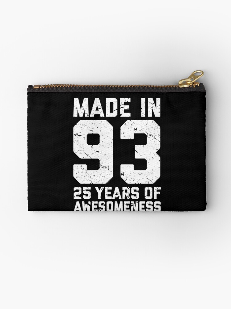25th Birthday Gift Adult Age 25 Year Old Men Women Studio Pouches