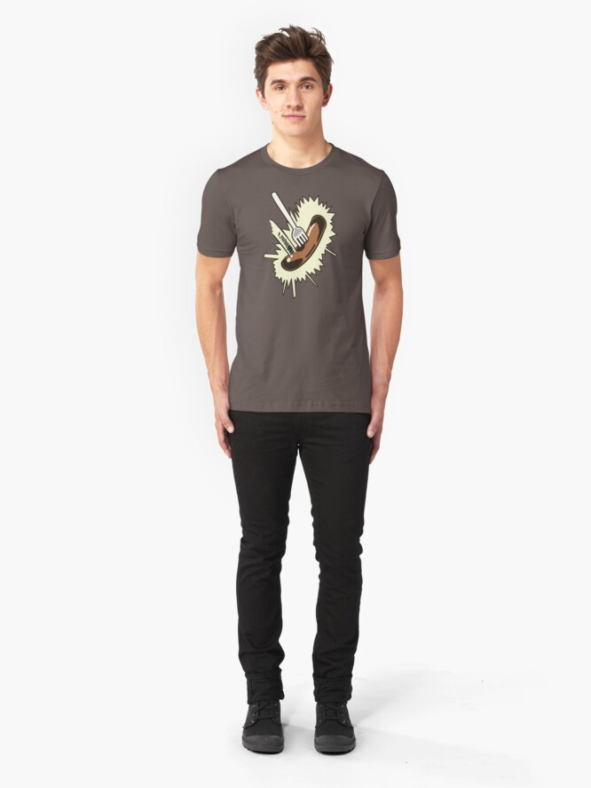 Alternate view of Unexpected Sausage Slim Fit T-Shirt
