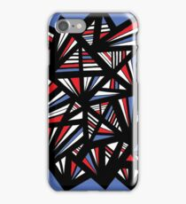 Balon Abstract Expression Red Blue iPhone Case/Skin