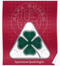 Póster Alfa Romeo Quadrifoglio Ispirazione