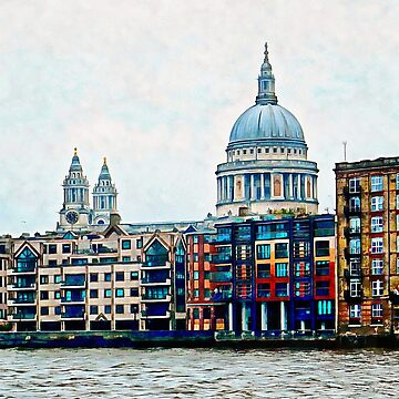 Across The Thames To St Pauls Cathedral by ShannathShima