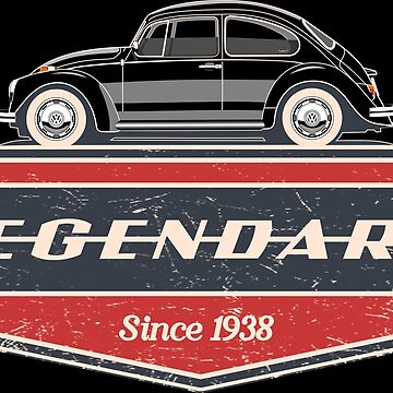 Legendary Classic Bug Unisex T-shirt for Men Women German Car Clothing Gift by Automoteez