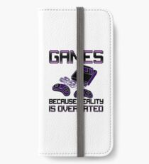 Funny Video Games Addict iPhone Wallet/Case/Skin