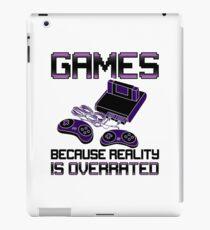 Funny Video Games Addict iPad Case/Skin
