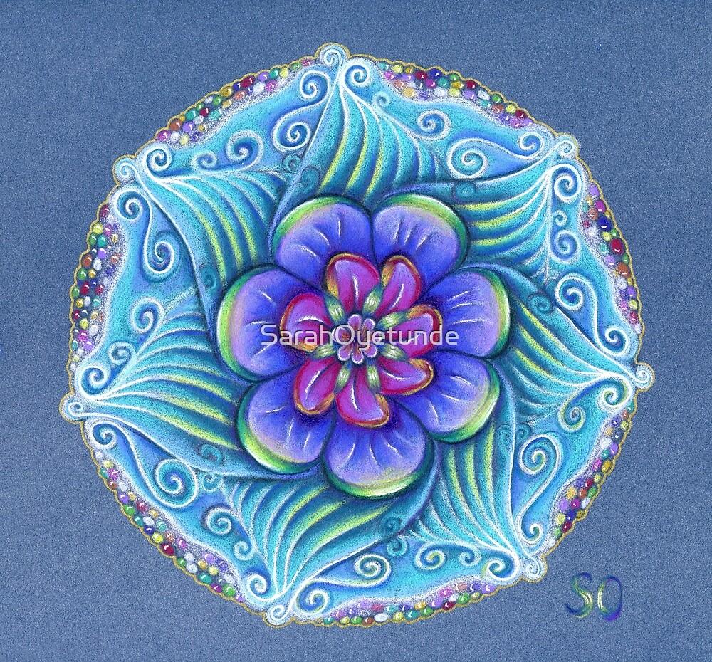 Aqua mandala by SarahOyetunde