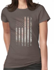 Vintage USA Flag Womens Fitted T-Shirt