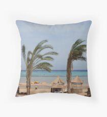 Sharm Beach Throw Pillow