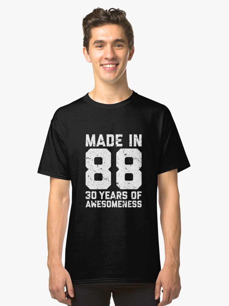 30th Birthday Gift Adult Age 30 Year Old Men Women Classic T Shirt Front