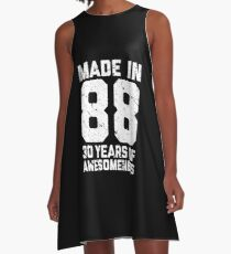 30th Birthday Gift Adult Age 30 Year Old Men Women A Line Dress