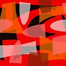 Abstract Mid Century Modern Pattern Blend by Michael Pfleghaar