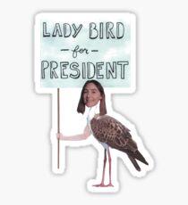 Lady Bird for President - Lady Bird Sticker