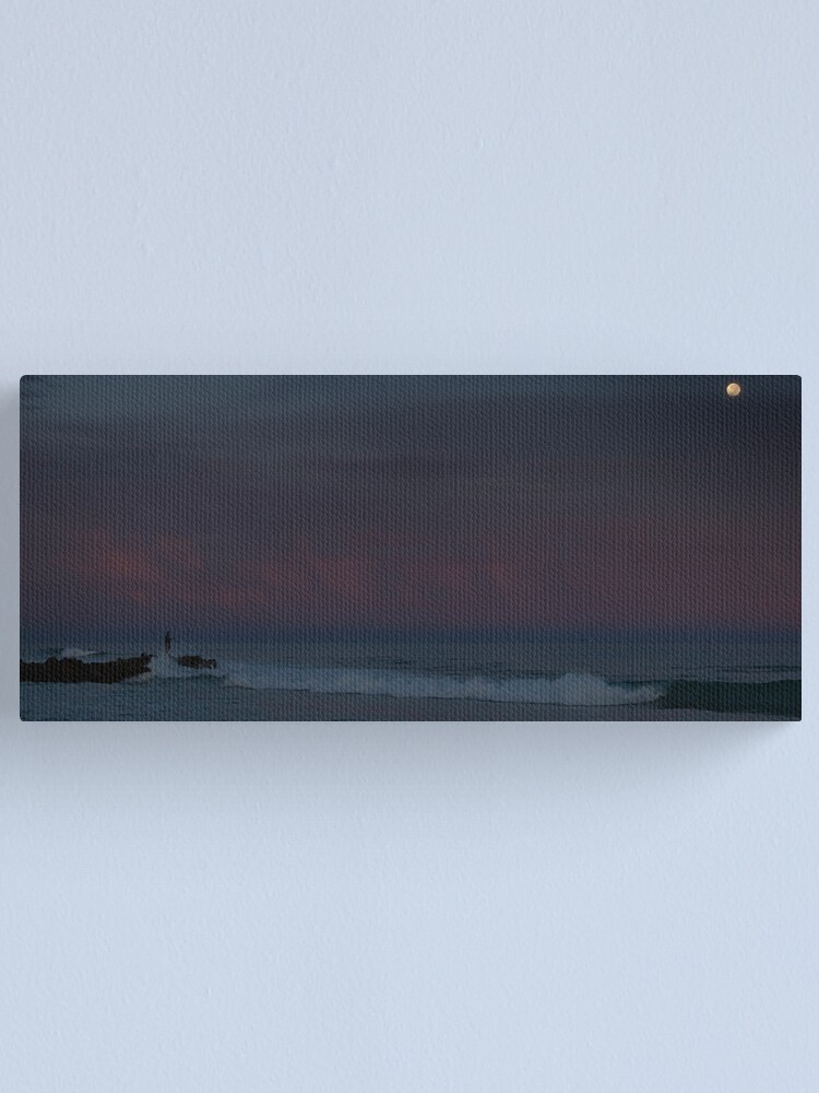 Alternate view of Moonlight Fishing Canvas Print
