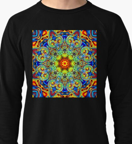 Psychedelic Melting Pot Mandala   Lightweight Sweatshirt