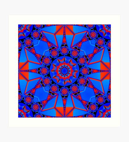 Red, blue shapes Art Print