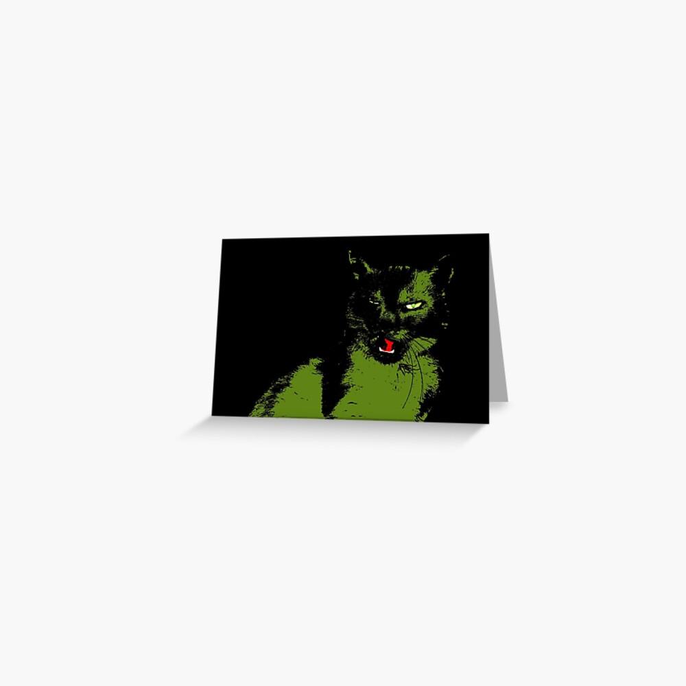 Black Cat 2 - Card Greeting Card