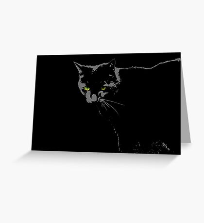 Black Cat 1 - Card Greeting Card