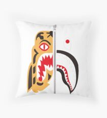 Bape Tiger x shark Throw Pillow