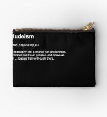 Big Lebowski | Dudeism Philosophy Dictionary Definition Short-Sleeve Tee Studio Pouch