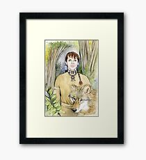 Portrait of an American Native Framed Print