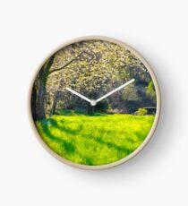 Blooming cherry tree Clock
