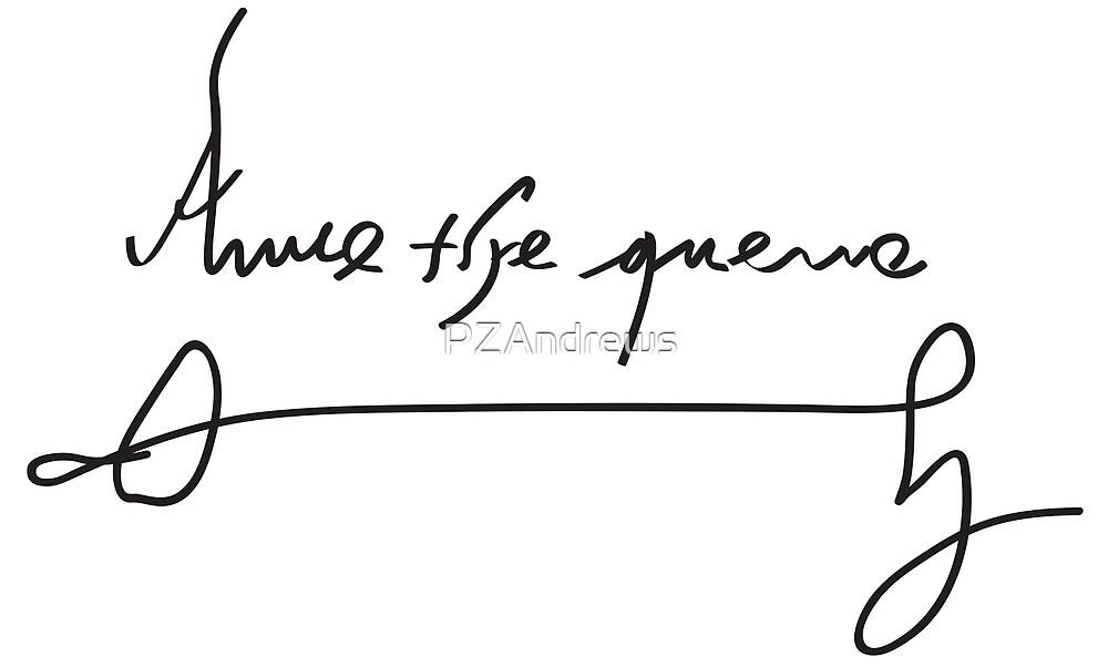 Signature of Anne Boleyn by PZAndrews