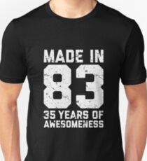 35th Birthday Gift Adult Age 35 Year Old Men Women Unisex T Shirt