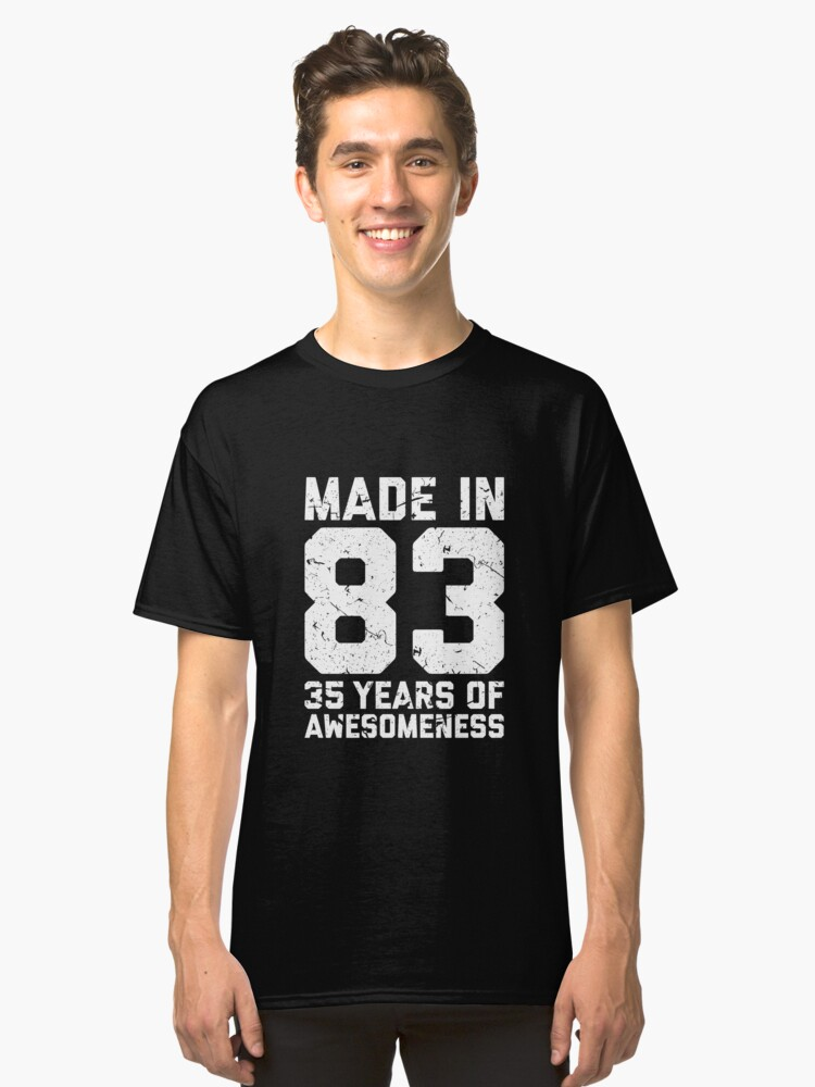 35th Birthday Gift Adult Age 35 Year Old Men Women Classic T Shirt Front