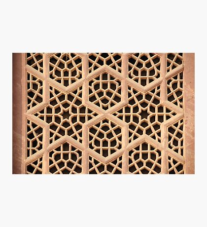 Old Islamic Stone Grill  Photographic Print