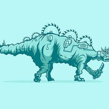Buzzsaw Stegosaurus by strangethingsA