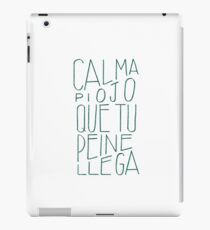 #Funny #spanish saying #lettering #graphicdesign iPad Case/Skin