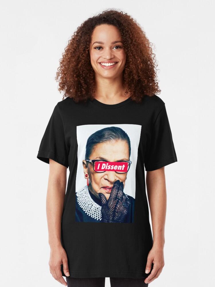 Alternative Ansicht von Berüchtigte RBG - ich widerspreche Slim Fit T-Shirt