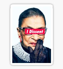 Notorious RBG - I Dissent Sticker