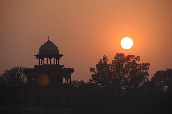 Sunset at Taj Mahal by AravindTeki