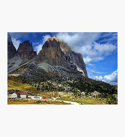 Sassolungo Scale! The Dolomites Photographic Print
