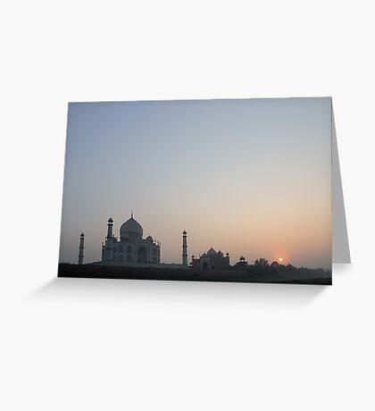 Sunset at Taj Mahal Greeting Card