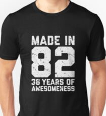 36th Birthday Gift Adult Age 36 Year Old Men Women Unisex T Shirt