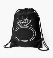 Engagement Ring Illustration Drawstring Bag