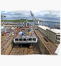 """ Ship in Falmouth Dry Dock"" Poster"