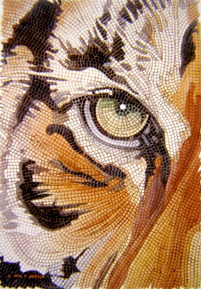Quot Quot Tiger Tiles Quot Watercolor Mosaic Quot By Paul Jackson Redbubble