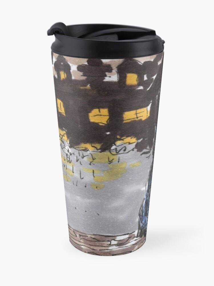 Alternate view of Night cat Travel Mug