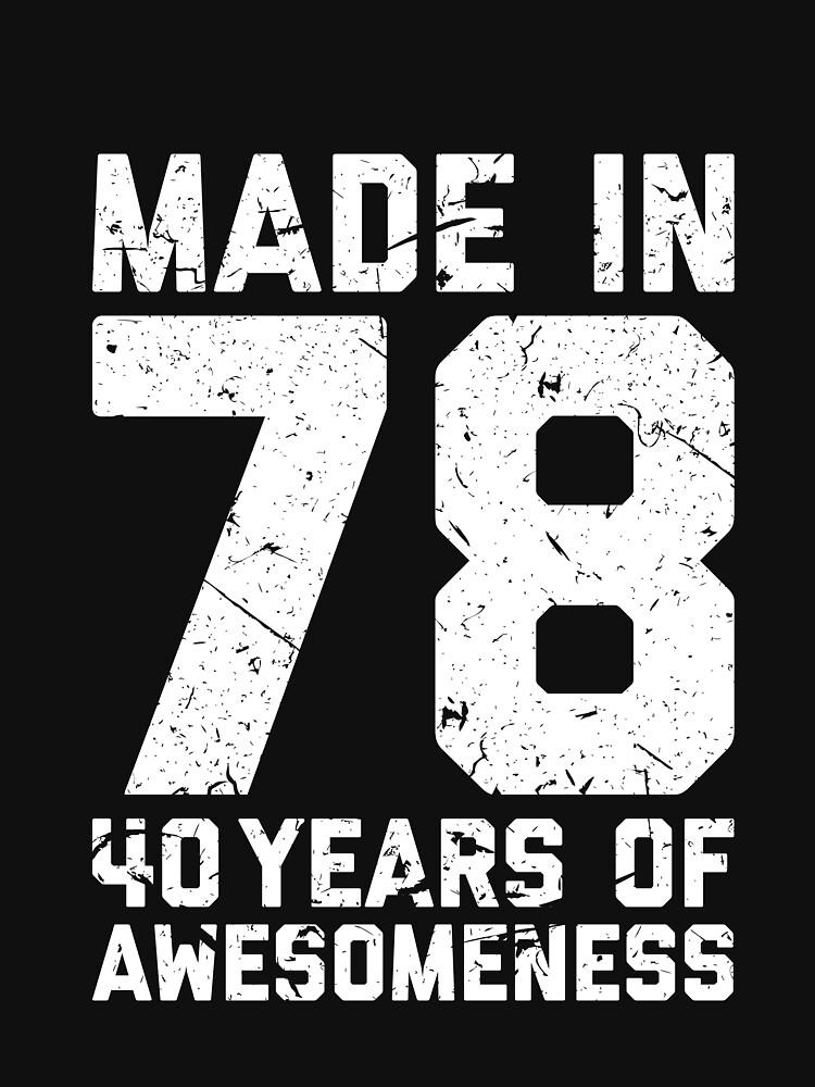 40th Birthday Gift Adult Age 40 Year Old Men Women By Mattlok