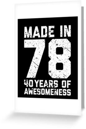 40th Birthday Gift Adult Age 40 Year Old Men Women By Matt L